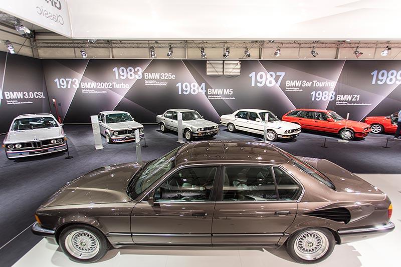 BMW 750iL V16 (E32), Codename 'Goldfisch', ausgestellt auf der Techno Classica 2017