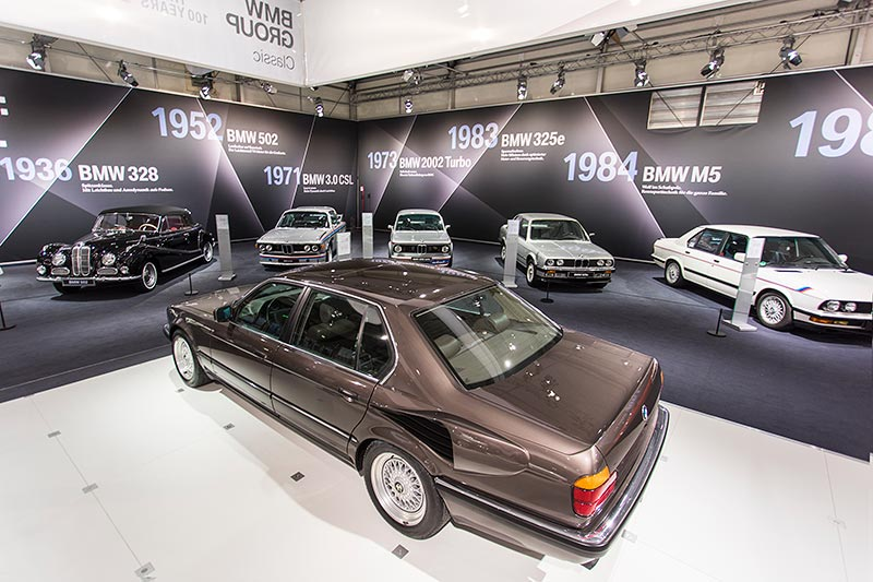 BMW 750iL, V16 (E32), ausgestellt auf der Techno Classica 2017
