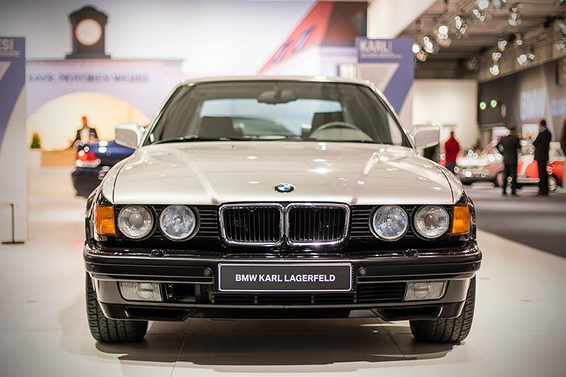 BMW 750iL (E32) designed by Karl Lagerfeld, ausgestellt auf der Techno Classica 2017 in Essen