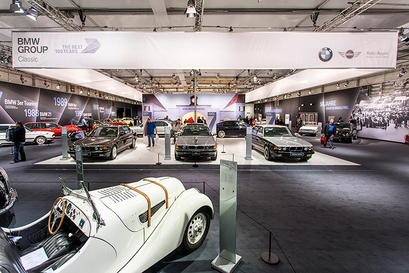 BMW Group Classic Messestand, Techno Classica 2017