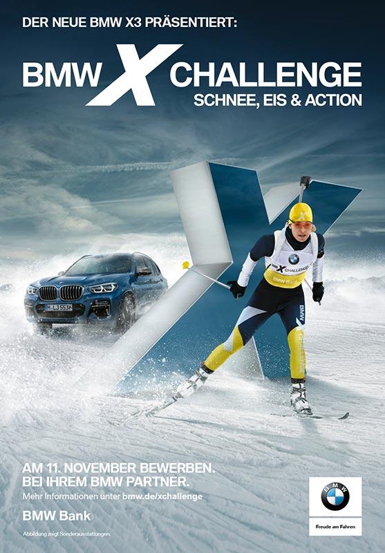 Die BMW X Challenge ist Teil der neuen BMW X3 Kampagne in Deutschland