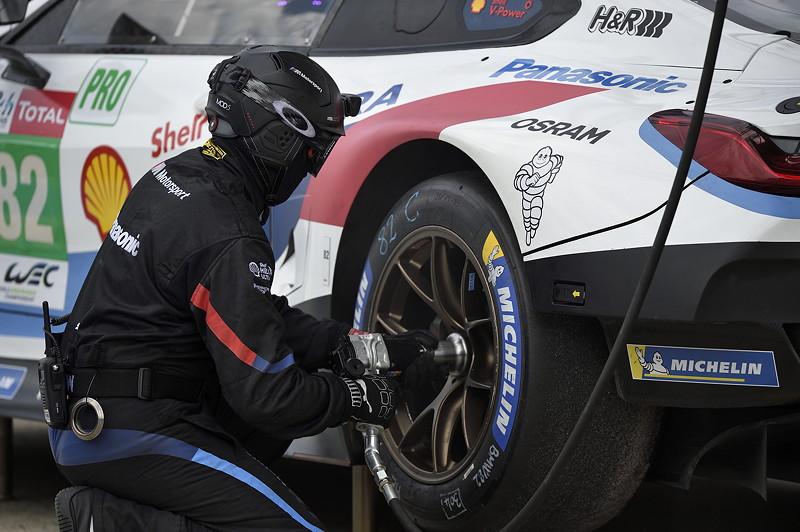 Le Mans (FRA) 03rd June 2018. BMW Motorsport, Pre Test Le Mans, Antonio Felix da Costa (PRT) and Alexander Sims (GBR) BMW M8 GTE No. 82.