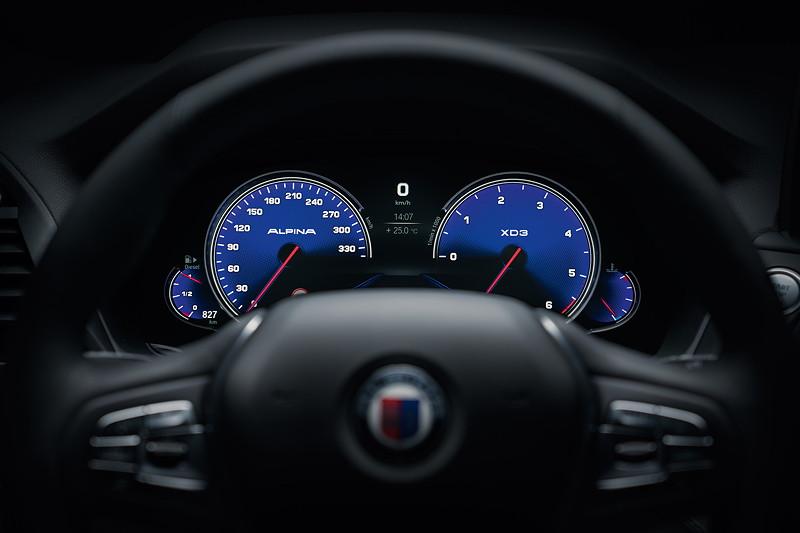 BMW Alpina XD3, Tacho-Instrumente, Standard-Modus