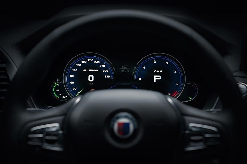 BMW Alpina XD3, Tacho-Instrumente, Sport-Modus