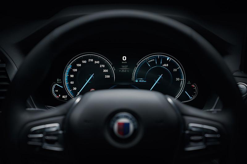 BMW Alpina XD3, Tacho-Instrumente, Econo Pro Modus