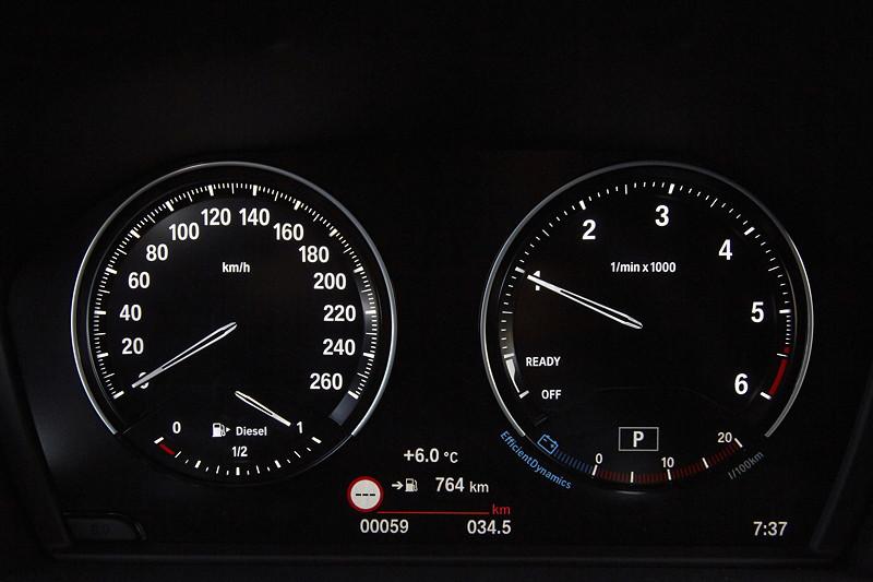 BMW 2er Gran Tourer (Facelift 2018), Tacho-Instrumente.