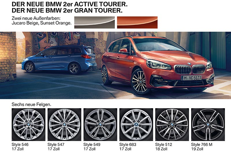Der neue BMW 2er Active Tourer und BMW 2er Gran Tourer. Facelift 2018. Highlights.