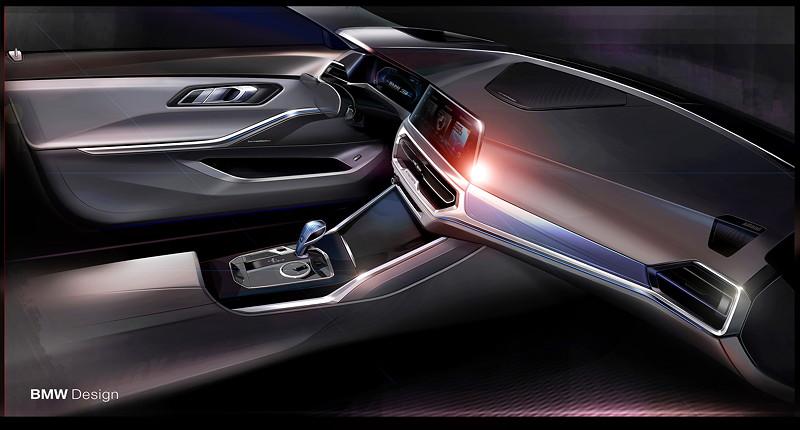 Die neue BMW 3er Limousine - Designskizze