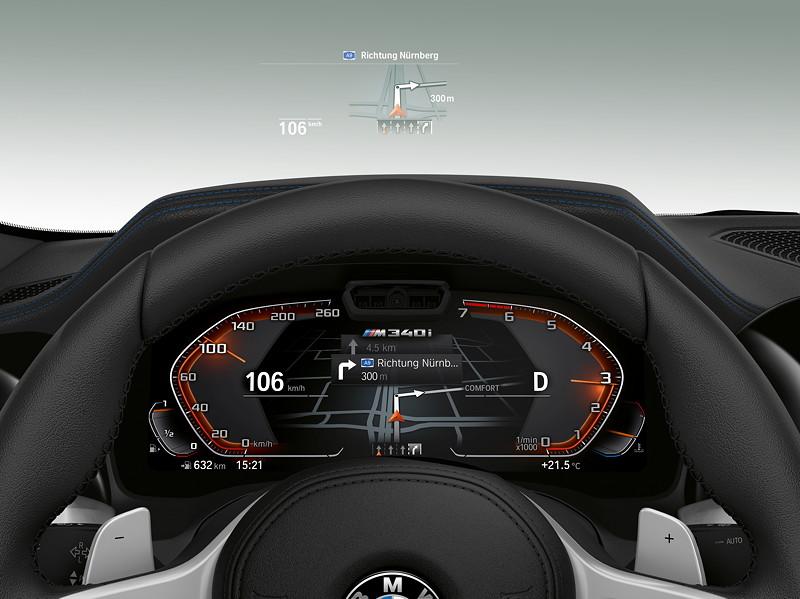 BMW M340i xDrive Limousine, Live-Cockpit, Head-up-Display