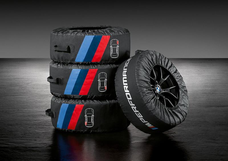 BMW M Performance Parts für den neuen BMW 3er, M Performance Reifentaschen.