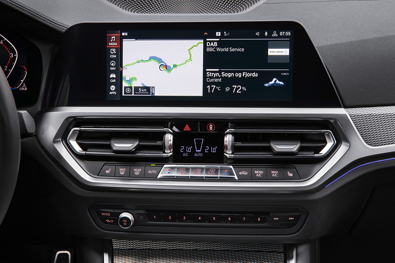 BMW 3er Limousine - Modell M Sport, Bordbildschirm