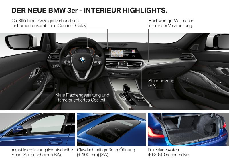 BMW 3er Limousine - Interieur Highlights