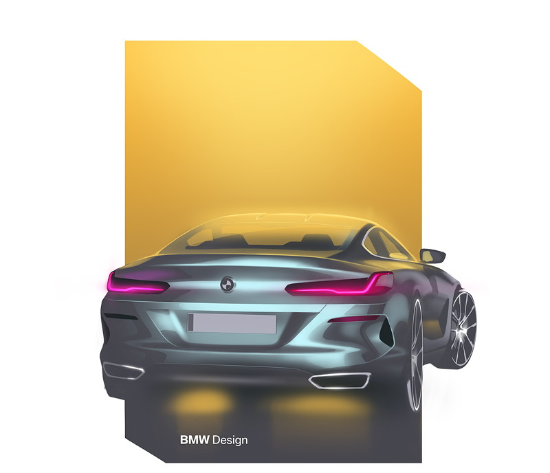 BMW 8er Coupé - Designskizze