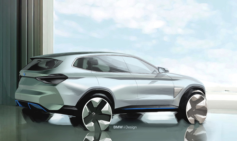 BMW Concept iX3, Designskizze