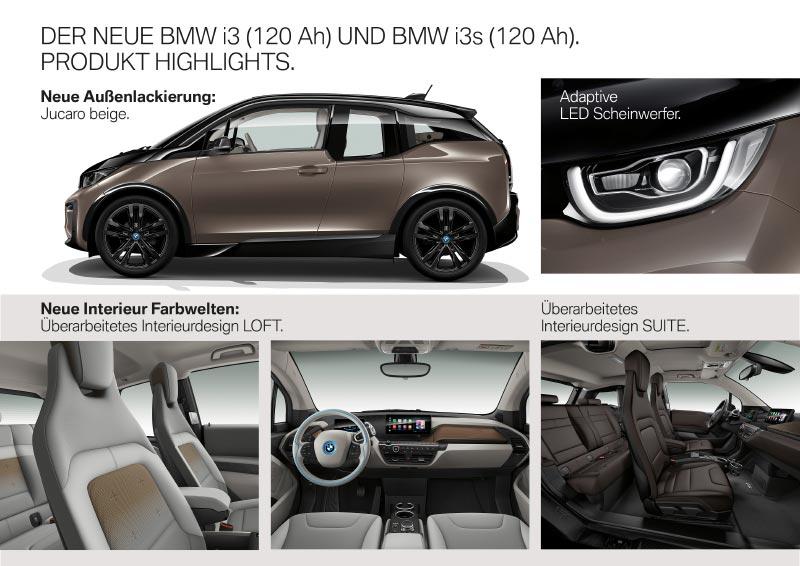 Der neue BMW i3 (120 Ah) und BMW i3s (120 Ah) - Produkthighlights.