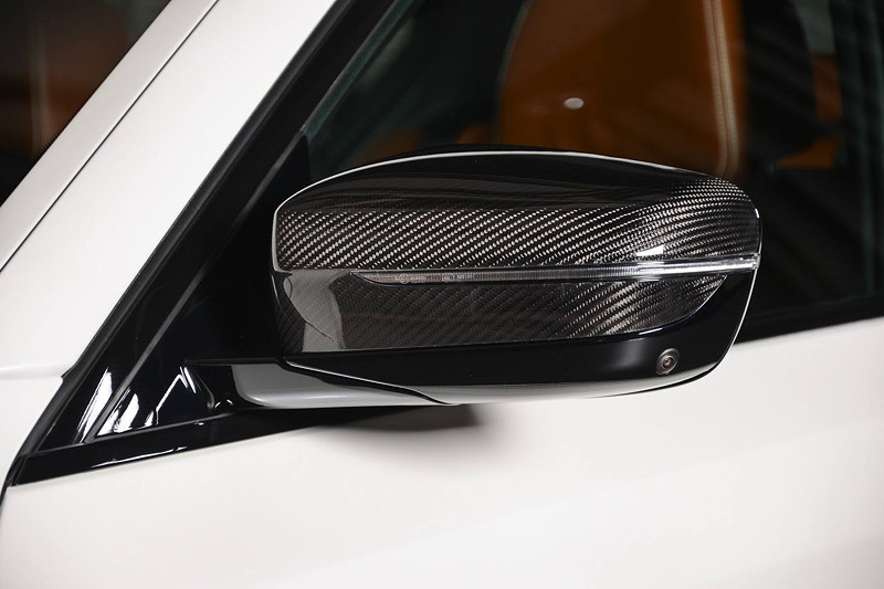 BMW M550i (G30), Aussenspiegel mit BMW M Performance Carbon Cover.