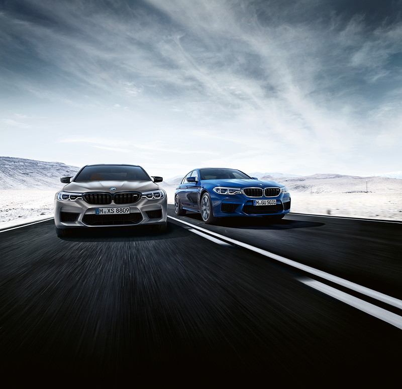 BMW M5 Competition mit dem 'normalen' BMW M5