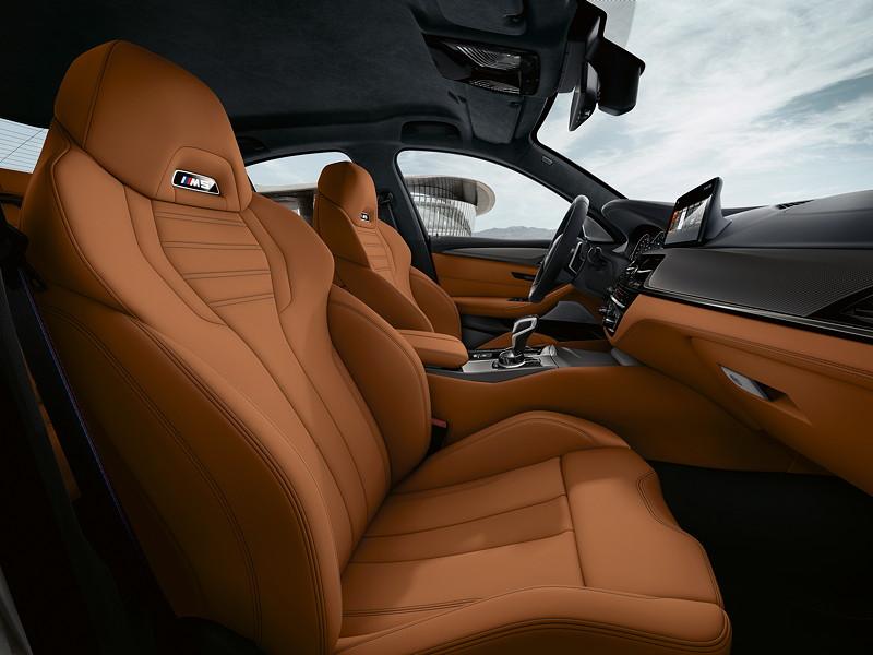BMW M5 Competition, Schalensitze mit M5 Logo