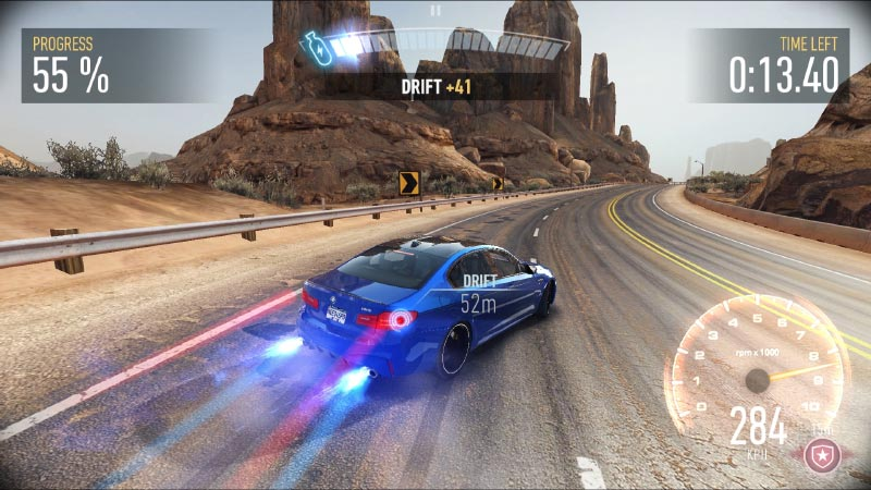 Die neue BMW M5 Limousine in 'Need for Speed No Limits'. In-Game.
