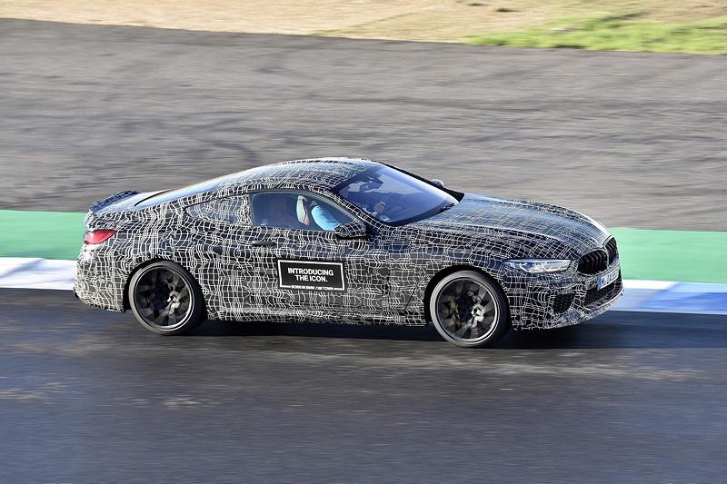 das neue BMW M8 Coupé, noch getarnt