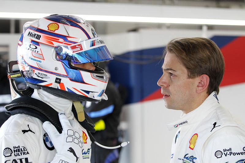 Le Castellet (FRA), 06.04.2018. BMW Motorsport, FIA WEC Prolog. BMW Piloten Tom Blomqvist (GBR) und Augusto Farfus (BRA).