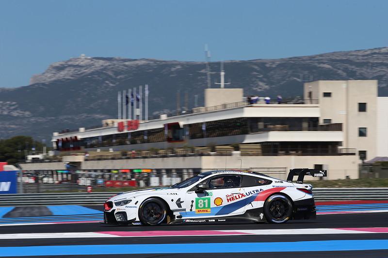 Le Castellet (FRA), 06.04.2018. BMW Motorsport, FIA WEC Prolog. BMW M8 GTE Nr. 81. Testfahrt.