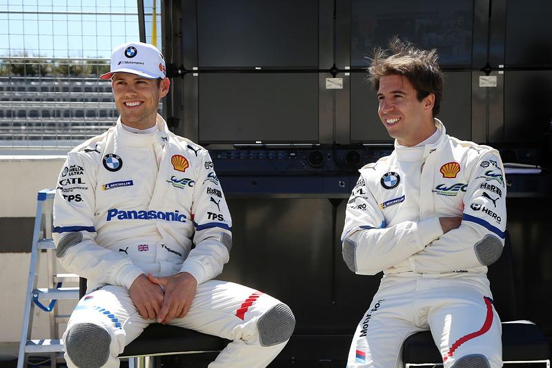 Le Castellet (FRA), 05.04.2018. BMW Motorsport, FIA WEC Prolog. BMW Piloten Tom Blomqvist (GBR) und Antonio Felix da Costa (POT).