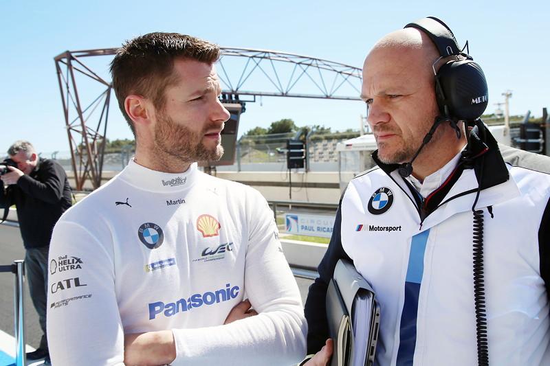 Le Castellet (FRA), 07.04.2018. BMW Motorsport, FIA WEC Prolog. BMW Pilot Martin Tomczyk und MTEK Team Chef Ernest Knoors (NED).