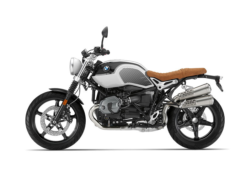 BMW R nineT Scrambler, BMW Motorrad Spezial: Option 719 Blackstorm metallic / Lightwhite uni.