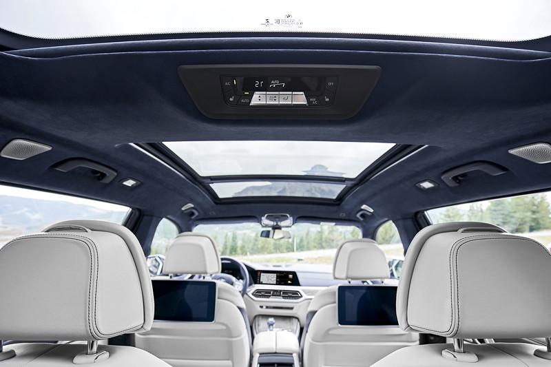 BMW X7 - Interieur, Klima-Einstellung im Fond