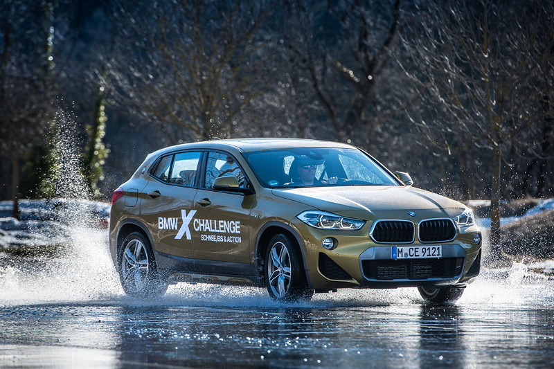 Fahr Challenge bei der BMW X Challenge in Seefeld/Innsbruck am 3. bis 5. März 2018.