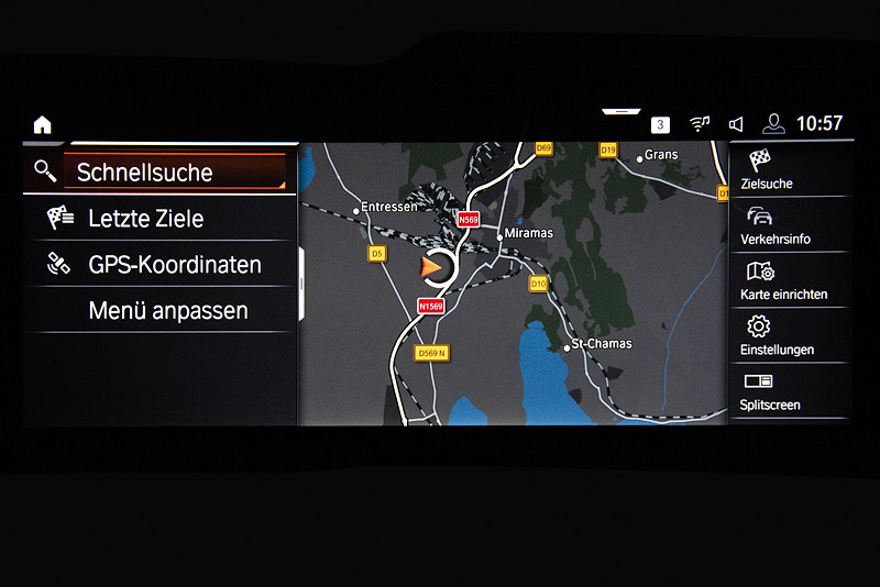 BMW Z4, Navigation auf dem Bordbildschirm