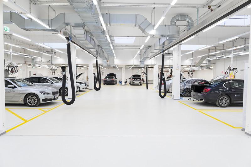 BMW Group Campus für autonomes Fahren in Unterschleißheim.