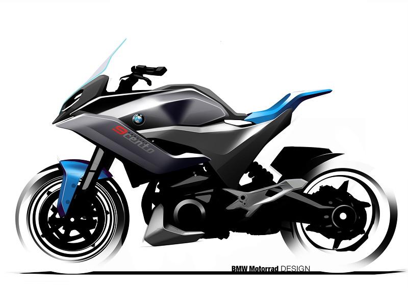 BMW Motorrad Concept 9cento, Designskizze