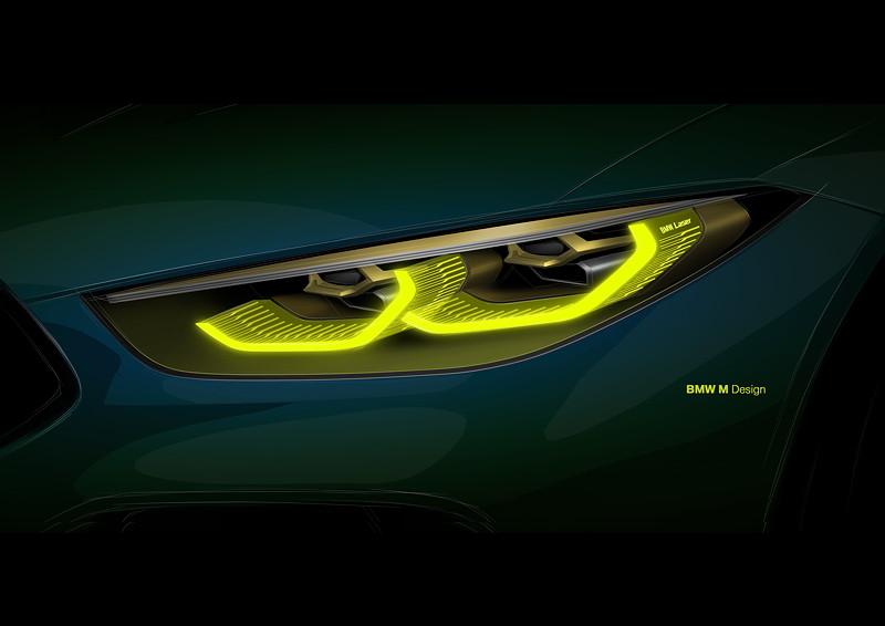 BMW Concept M8 Gran Coupe, Designskizze Scheinwerfer
