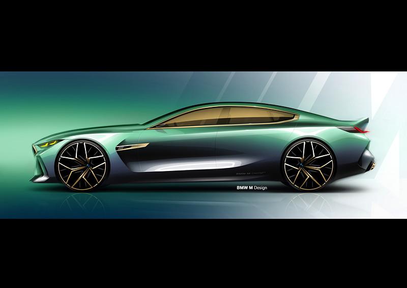BMW Concept M8 Gran Coupe, Designskizze