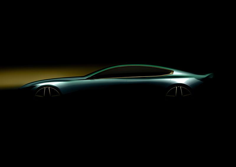BMW Concept M8 Gran Coupe, Designskizze, Silhouette
