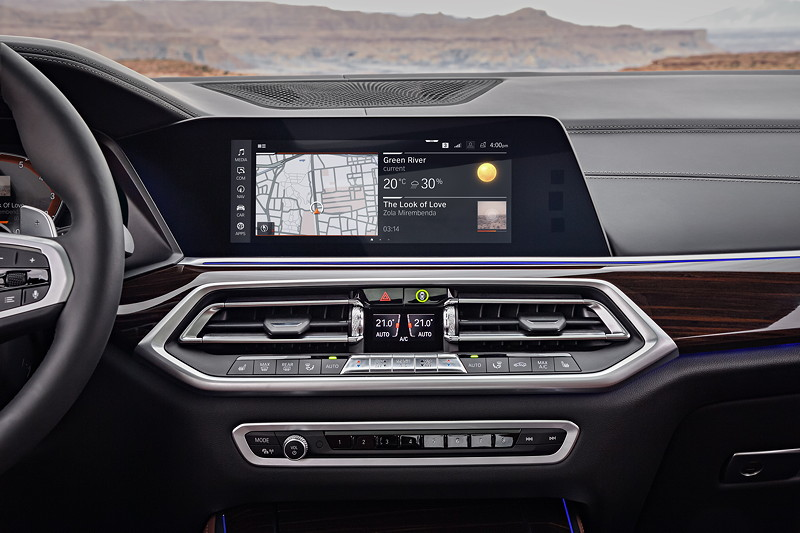 BMW Operating System 7.0 - Display Hauptmenü.
