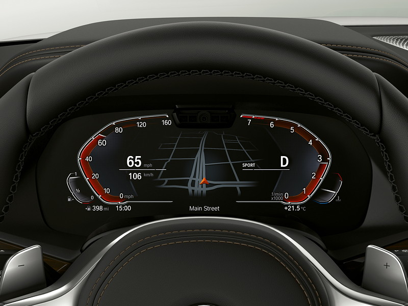BMW Operating System 7.0 - Tacho im Sport Modus.