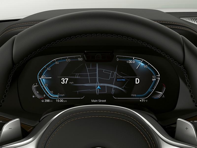 BMW Operating System 7.0 - Tacho im Eco Modus.