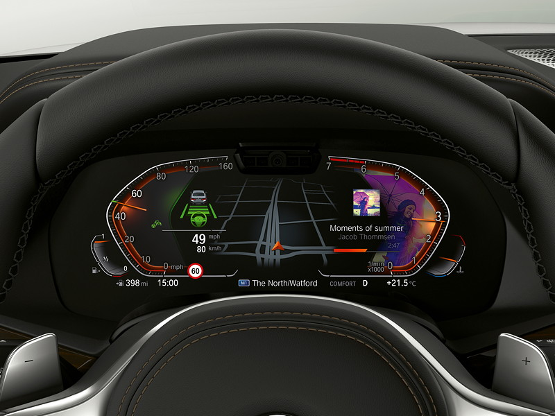 BMW Operating System 7.0 - Driving Assistant und Medien.