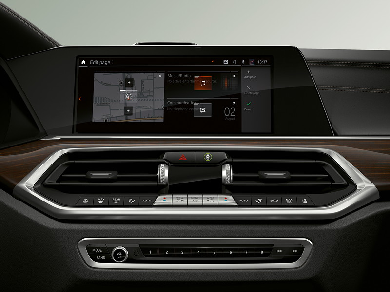 BMW Operating System 7.0 - Display: Customizing Menü.