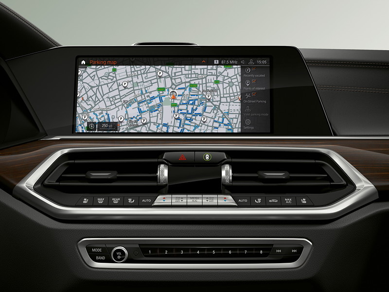 BMW Operating System 7.0 - Bildschirm: Parken.