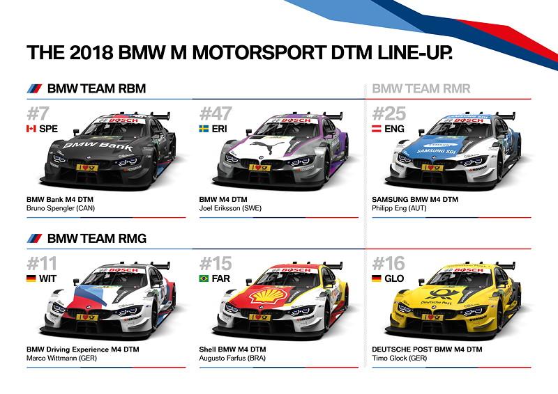8. März 2018. DTM, Übersicht, Grafik, Saison 2018, Aufgebot, Line-Up, Fahrer, Fahrzeuge, Teams.