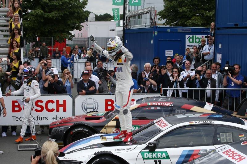Norisring, 24. Juni 2018. DTM-Rennen 8, Gewinner Marco Wittmann mit senem BMW Driving Experience M4 DTM.