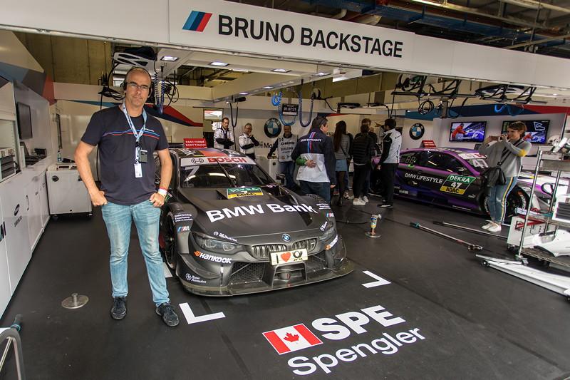 DTM in Spielberg, 23.09.2018. Box vom BMW Team RBM mit dem BMW Bank BMW M4 DTM von Bruno Spengler.