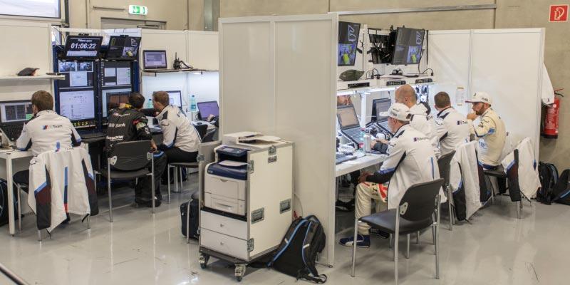 DTM in Spielberg, 23.09.2018. Box vom BMW Team RBM.
