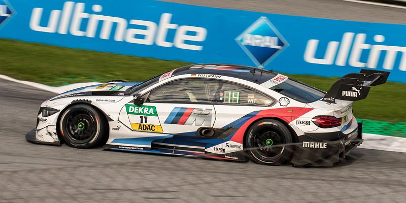 DTM in Spielberg, 23.09.2018. Marco Wittmann im BMW Driving Experience BMW M4 DTM beim DTM-Rennen.