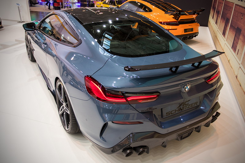 AC Schnitzer Designstudie auf Basis BMW M850i, Heck-Ansicht mit Hekspoiler und Heck-Flügel