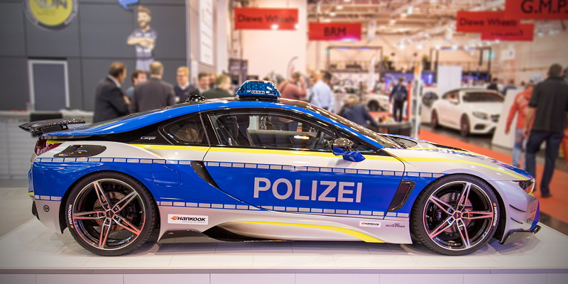 BMW i8 Polizeiwagen by AC Schnitzer auf der Essen Motor Show 2018